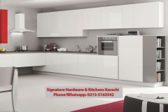 Modern cucine red white color