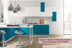 Modern italy cucine blue white color